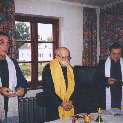 Msza Św. We Wspólnocie: x. Jean-Marie Viennet , L'Abbé Pierre i x. Jan Rembecki